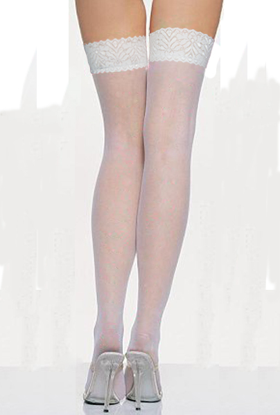 White sheer lace Stockings